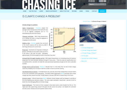 Chasing Ice data page