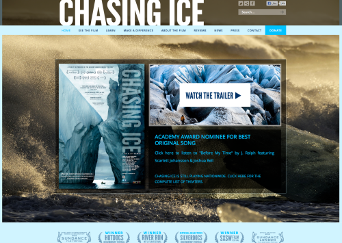 Click on the image above to visit the Chasing Ice website to see when the film is playing near you.