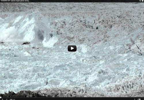 Click on the image above to see the video of the largest glacier calving event ever recorded.
